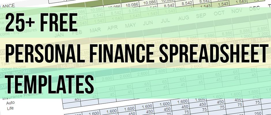 Free Personal Finance Spreadsheet Templates