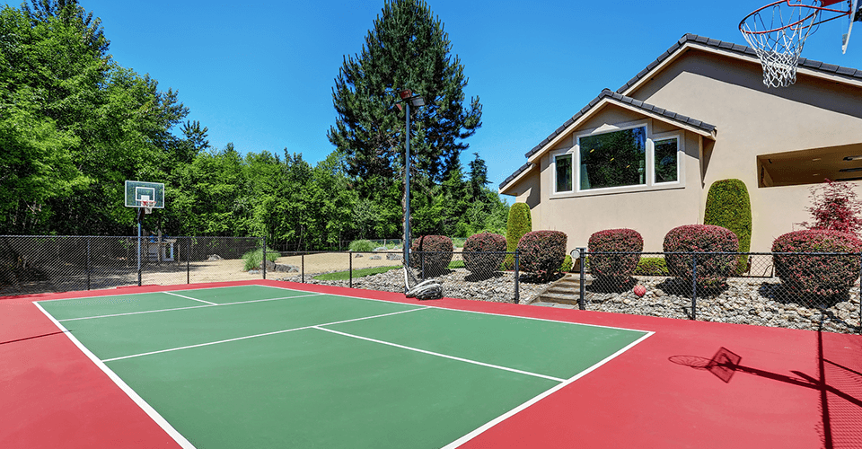 cost to build an outdoor basketball court