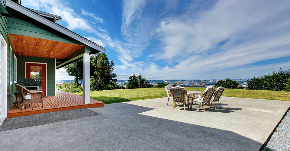 how to calculate the cost of an outside patio