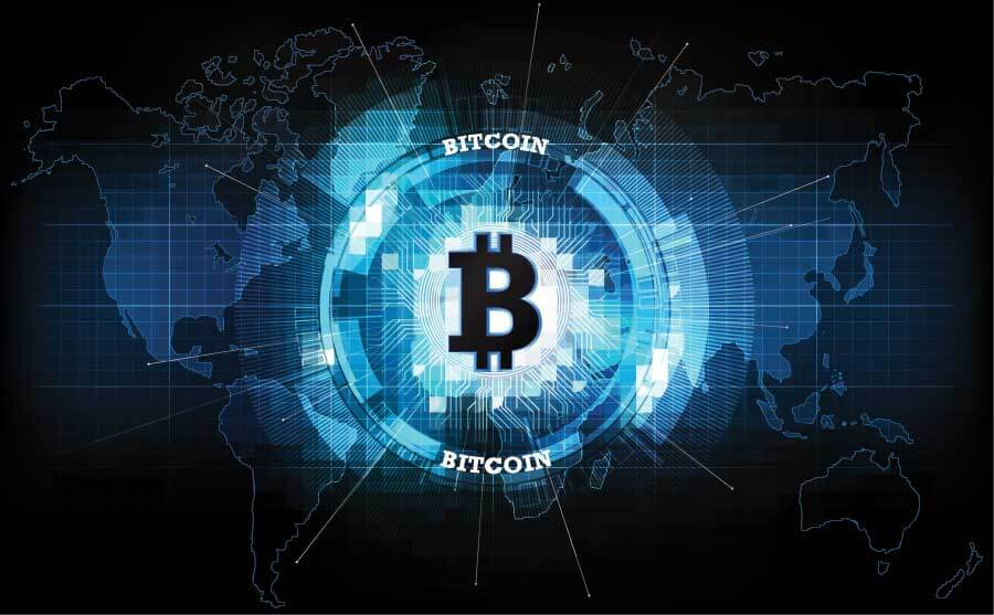bitcoing on world map